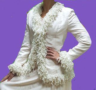 vestido novia con abrigo