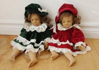 Muñecas gestitos antiguas de colección.