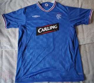 Camiseta fútbol Glasgow Rangers nueva, vintage