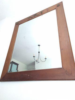 Espejo 125x105cm antiguo luna original