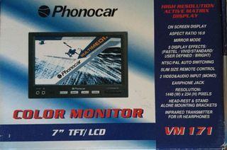 """Pantalla Phonocar 7"""" Color Monitor."""