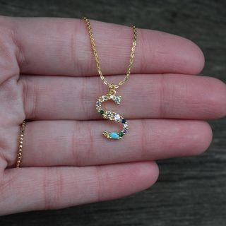 Collar Inicial S Goldfield Piedras Preciosas
