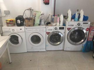 Tintorería lote lavadoras 15,12,6,6 kilos