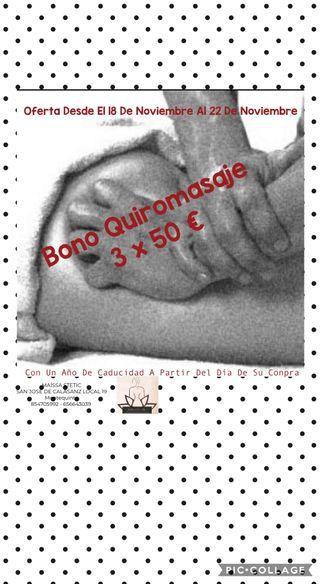 oferta bono Quiromasaje