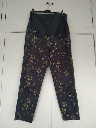 pantalon de flores para embarazo de h&m. t. 44.