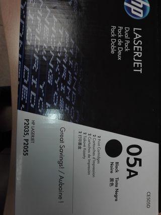 Cartucho tinta impresora HP Laserjet 05A
