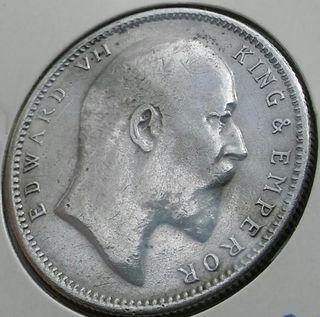 1 RUPIA DE PLATA 1903 EDUARDO VII INDIA BRITANICA