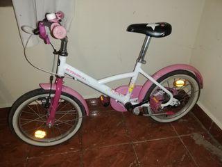 bicicleta de niña del decathlon.
