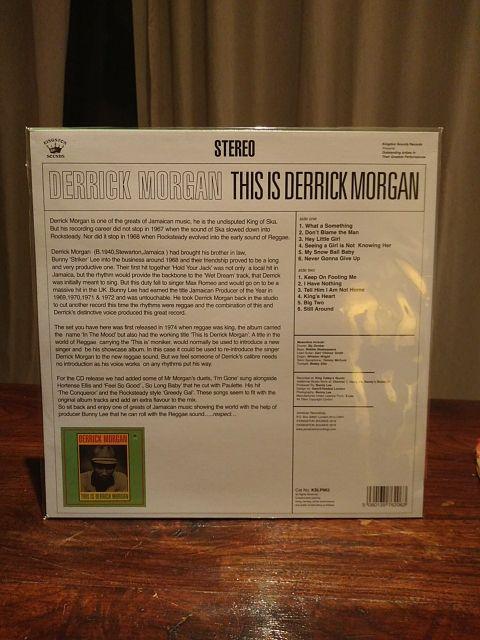 Disco vinilo LP DERRICK MORGAN