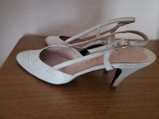 zapato novia piel