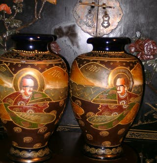 Antiguo jarrón porcelana Satsuma