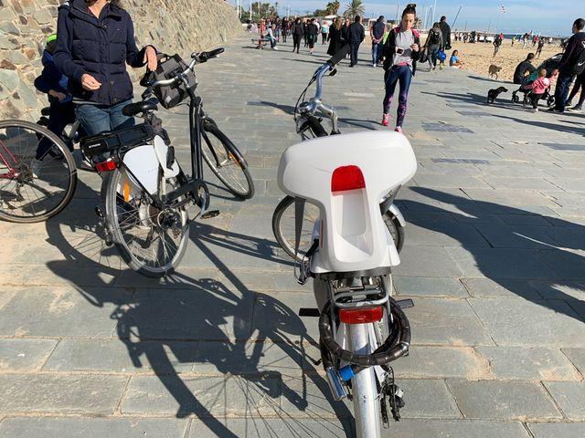 Silla de bici trasera niños Polisport