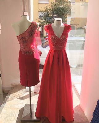 Liquidación vestidos fiesta Marfil Rosa Clara