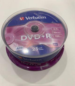Tarrina 25 Unidades DVD+R
