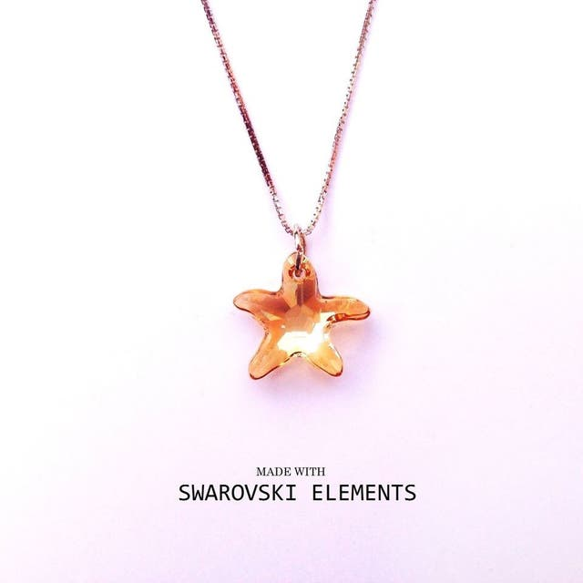 Joya fina Seestar ambar Swarovski Elements