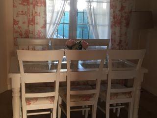 Conjunto de mesa d comedor con 6 sillas