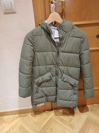 abrigo niña 11años 3/4 zara verde