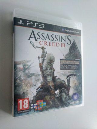 ASSASSIN'S CREED III PS3 * DIFERENTES VIDEOJUEGOS