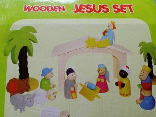 Pesebre de madera niños