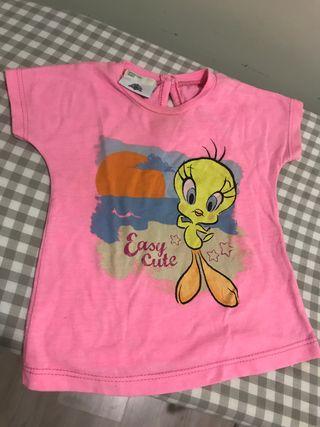 Camiseta bebe piolin benetton Looney tunes