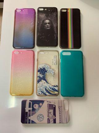 Pack 7 fundas iPhone 7 Plus / 8 Plus