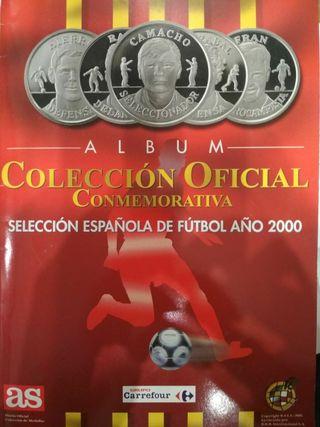 ALBUM COMPLETO DE MONEDAS SELEC. ESPAÑOLA 2000