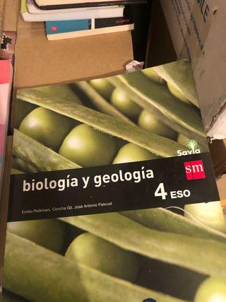 Libro de biología y geología de cuarto de la eso
