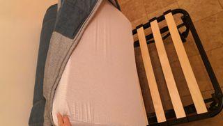 sillon cama semi nuevo, colchon espuma y somier