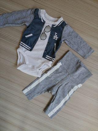 conjunto bebé recién nacido 0-1 mes 50cm H&M