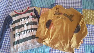 Lote 2 camisetas talla 6 años ( 114 cm)