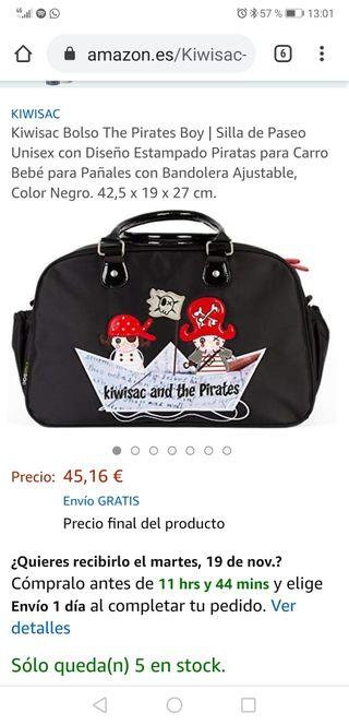 bolsa para bebé marca kiwisac en perfecto estado