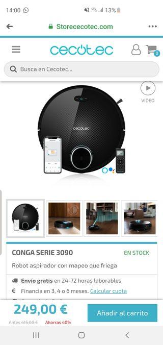 Aspirador Conga 3090+ extra garantia