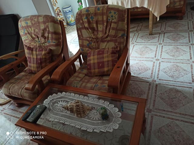 Muebles de madera de pino macizo piso completo