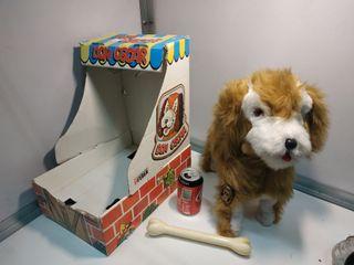 Peluche antiguo perro FEBER a pilas Don Oscar