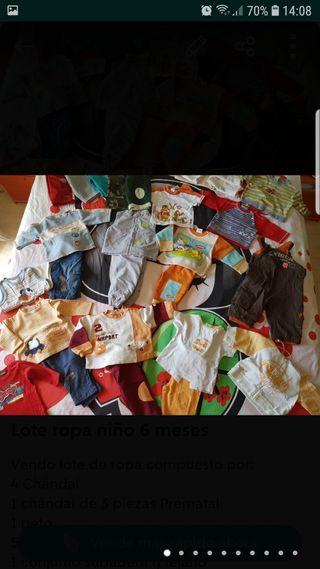 Lote ropa invierno talla 6 meses