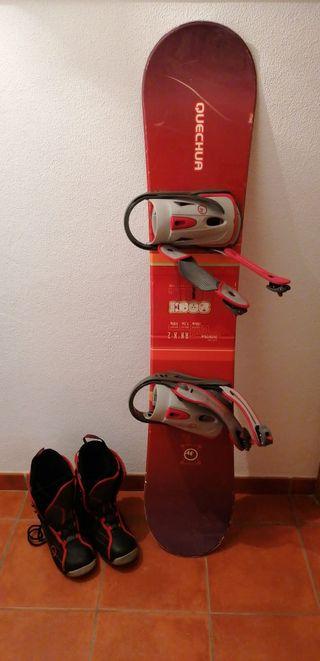 Tabla y botas snowboard Quechua