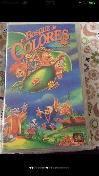 Película VHS/ El Bosque de Colores