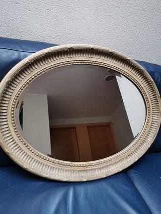 espejo grande ovalado