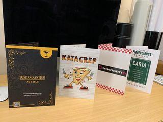 cartas de menú con diseño personalizado