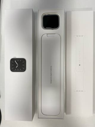 Apple Watch 5 gps + celular 44mm aluminio plata