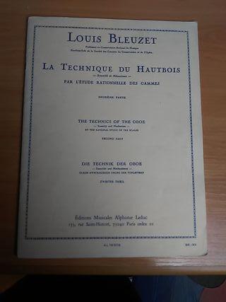 Louis Bleuzet. 2° parte. La técnica del oboe.
