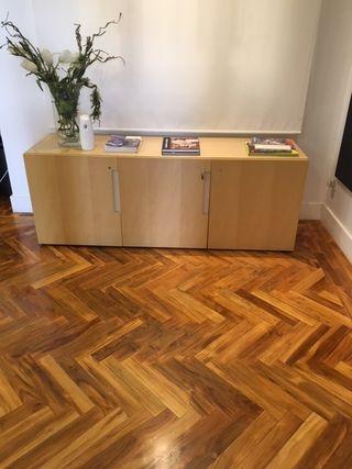 mueble oficina beige