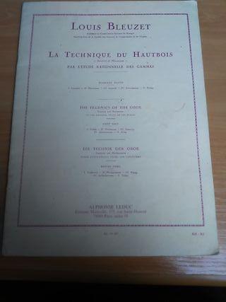 Louis Bleuzet. 1° parte. La tecnica del oboe.