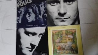 Police, Phil Collins, Génesis VINILOS