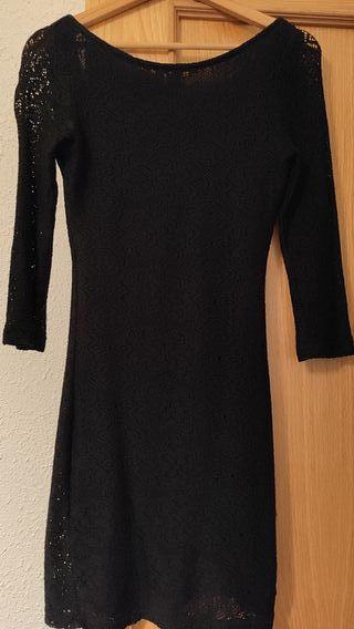 vestido negro trafaluc