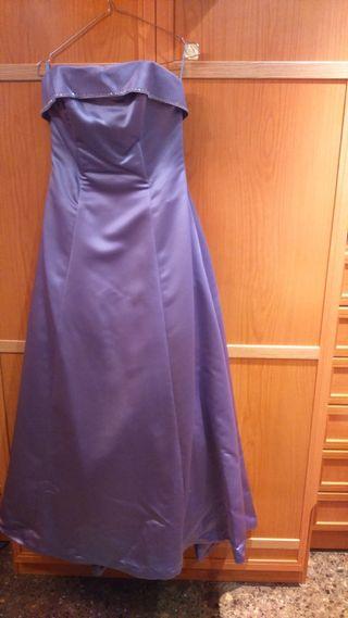 Vestido fiesta lila talla 36-38