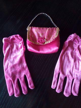 Bolso princesa y guantes Rosa