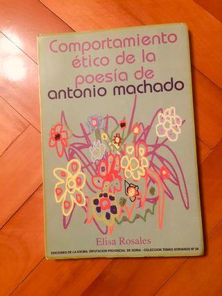 Libro comportamiento ético de la poesía de Machado