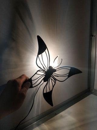 lampara antigua aplique vintage mariposa antigua