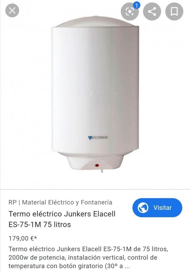 Termo eléctrico Junkers (75 Litros)